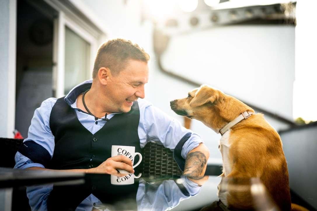 Rene Rink mit Hund
